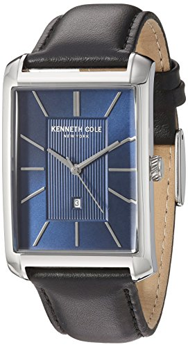 Kenneth Cole New York Men's Analogue Japanese-Quartz Watch with Leather Calfskin Strap 10030830