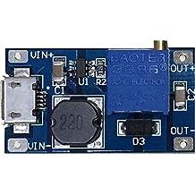 Yeeco LM2577 DC DC Boost Converter Step-up Voltage Regulator Voltage Stabilizer Adjustable Power Supply DC 2-24V to 5V 9V 12V 24V 2A with Micro USB Input