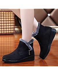 GTVERNH-Old Beijing zapatos mujer zapatos invierno alta engrosamiento en la anciana madre ayuda antideslizante...