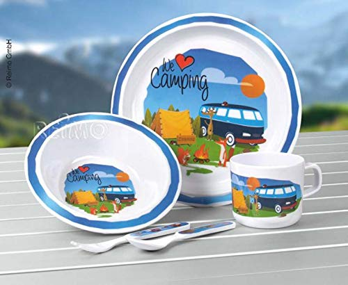 Melamin Kindergeschirr-Set 5-teilig, Motiv: 'We Love Camping' (932991798)