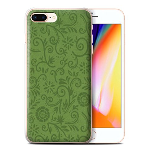 Stuff4 Hülle / Case für Apple iPhone 8 Plus / Pack (5 Pcs) / Floral Strudel-Muster Kollektion Green Flower