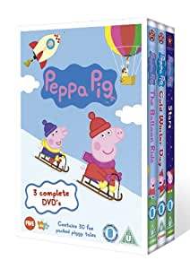 Peppa Pig Triple (Balloon Ride, Cold Winter Day and Stars) [DVD]
