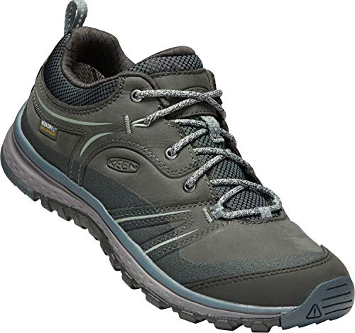 KEEN - Terradora Leather Waterproof Femmes Chaussures de randonnée (Pourpre/Gris)