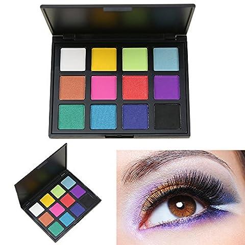 AMBITO Neutral Warme Lidschatten Kosmetic Makeup Set 12 Farben Profi Lidschatten Palette Make Up Kosmetik Eyeshadow Augenpalette -