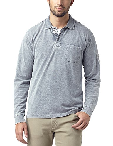 Authentische Pigment-pigment (Pioneer Herren Poloshirt Polo Shirt, Grau (Gray 155), Large)