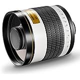 Walimex Pro 800mm 1:8,0 DSLR-Spiegelobjektiv (Filtergewinde 35mm) für Canon EF Objektivbajonett weiß