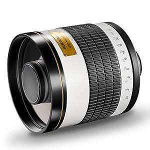 Walimex Pro 800mm 1:8,0 DSLR-Spiegelobjektiv für Canon FD Objektivbajonett weiß (manueller Fokus, für Vollformat Sensor gerechnet, Filterdruchmesser, inkl. Schutzdeckel und Objektivbeutel)