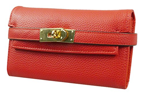 Kukubird Strap Turn Clasp Purse Prom Party Clutch Bag Wallet - Red