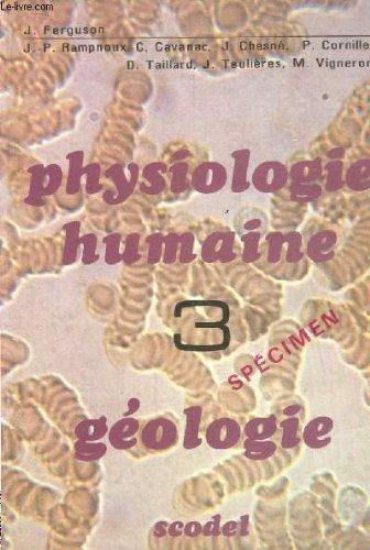 Physiologie humaine - géologie 3.