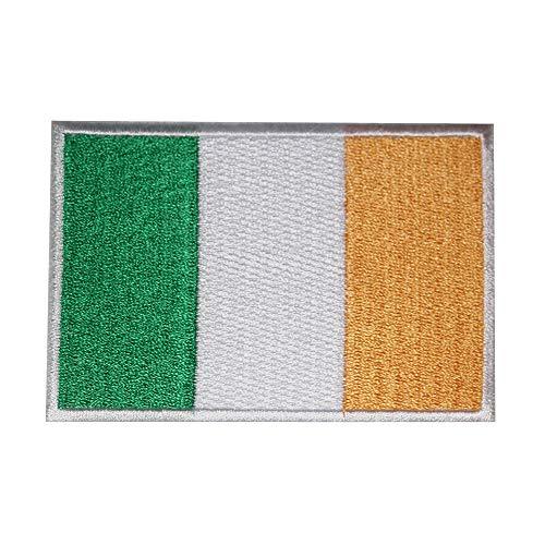 Parche bordado bandera nacional Irlanda coser planchar