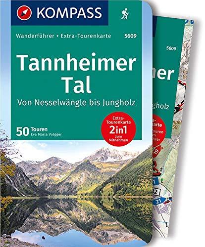 KOMPASS Wanderführer Tannheimer Tal von Nesselwängle bis Jungholz: Wanderführer mit Extra-Tourenkarte 1:25.000, 50 Touren, GPX-Daten zum Download: Wandelgids met overzichtskaart