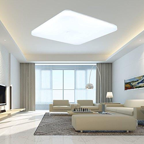 SAILUN 36W Blanc Froid Lampe Panneau Plafonnier à LED ultra fin Quadra Plafonnier basse consommation couloir lumière pour salon lampe chambre cuisine lumière blanc