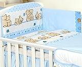 5 pezzi Set di biancheria Copri cuscino Paracolpi, Copri piumino per culla, letto (140x70cm, 8)