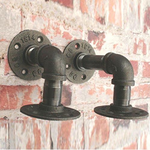 HELEISH 2 stücke 3/4 zoll eisenregal unterstützung flansch industrielle rohr halterung 13x16 cm Zubehörwerkzeug - 2 Stück Flansch