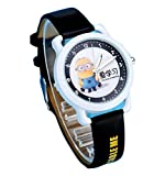 despicable me banana minions kids cartoon Watches leather Watch WP@KTWHR001B