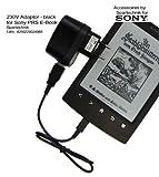 USB Netz-Ladegerät für eBook Reader SONY PRS-T1 PRS-T2 PS-T3 - 230 Volt USB Netztstecker für SONY PRS T1 T2 T3 E-Book Reader - schwarz