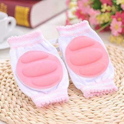 SUPVOX 5 Paar Baby Knieschützer, einstellbar Anti-Rutsch-Krabbel-Knieschoner für Unisex-Kleinkinder