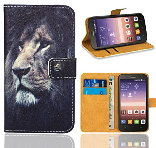 Huawei Y625 Handy Tasche, FoneExpert® Wallet Case Flip Cover Hüllen Etui Ledertasche Lederhülle Premium Schutzhülle für Huawei Y625 (Pattern 4)