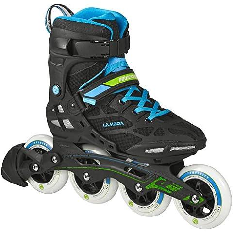 Powerslide Inline-Skate Lambda - Patines en línea, color Negro, talla 43