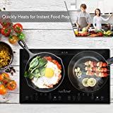 Nutrichef Dual Induction Cooktop - Double Countertop Burner With Digital Display