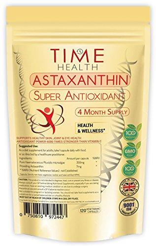 Astaxanthin – 7mg – Optimale Dosis – Super-Antioxidant – 100% rein, natürlich, bio – 4-Monats-Vorrat erhältlich