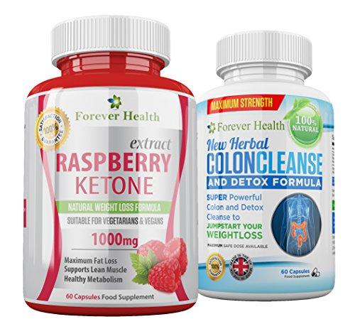 Raspberry Ketones Chetoni Lampone PURO + PULIZIA DEL COLON Forte Pillola Dimagrante - Bruciare il (Perdita Di Grasso)
