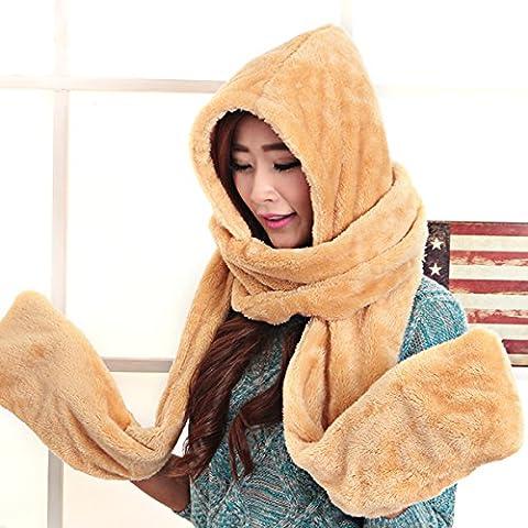 WJP sciarpa Hat guanti tre Kit pezzo coreano Onda a mano moda inverno cute calda lana lavorata a maglia cappelli insiemi W-474