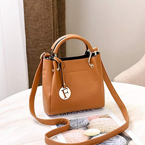 (Circlefly Koreanische Version der kleinen Tasche des Mädchens, wilde Kuriertasche, Umhängetasche, Muttertasche (zwei Sätze))