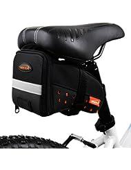 Ibera Bicicleta Bolsa Bolso Alforja para sillín, material reflectante, con correas