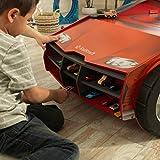 KidKraft 18027 Speedway Play N Store Autorennbahn Spieltisch aus Holz für Kinder inklusiv Stauraum und Rennstrecke - kompatibel mit Hot Wheels Spielzeugautos