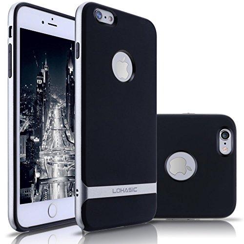 iPhone 6s Case/ iPhone 6 Case, LOHASIC pare-chocs antichoc souple TPU Retour Housse avec Plastic Placage en métal pour Apple iPhone 6s (2015) & iPhone 6 (2014)-4.7 Pouces,Or Argent