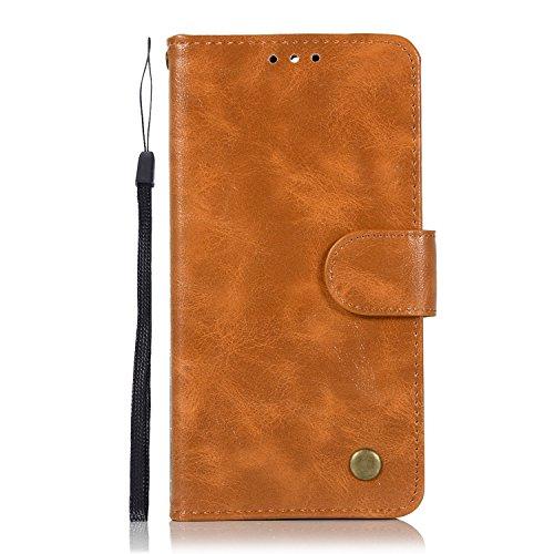 Chreey Schutzhülle für Motorola Moto G4 / G4 Plus, Leder, mit Schlitz für Kreditkarten, Brieftasche