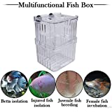 FlikFinz Aquarium Fish Breeding Incubator Floating Hatchery Fry Trap Multi-Function Breeder Box (with 2 Feeding Holes)