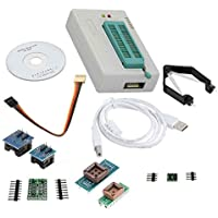 LAQIYA TL866✪ Plus Programador USB EPROM FLASH BIOS Programable Logic Circuits 6 Adaptadores Socket Extractor para 15000 IC