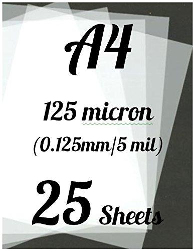 25 x A4 plantilla de hojas (diseño de Star Wars de tereftalato de polietileno) 125micron/0,125 mm/5 De mil cfsupplies