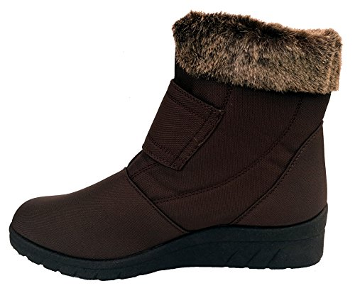 Cushion Walk Thermo-Tex Womens Comfort Fit Winter Boots - CW81 Brown (4...