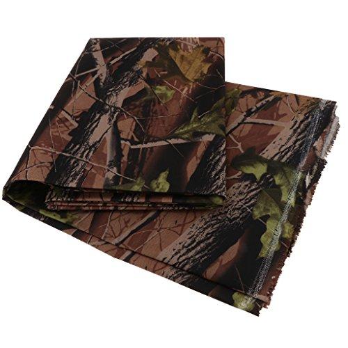 perfk Camouflage Tarn Extrem reißfestes Gewebe Polyester Zeltstoff Markisenstoff Wasserdicht, Outdoor, 600D - 2#, 2 Meter