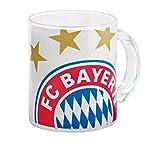 FC Bayern München Glastasse , Größe:one size;Farbe:weiß