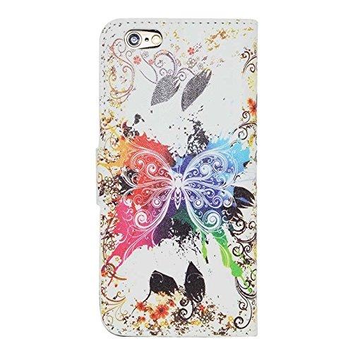 Phone case & Hülle Für IPhone 6 / 6S, Kirschblüten-Muster-horizontale Flip Magnetische Wölbungs-Leder-Kasten mit Einbauschlitzen u. Mappe u. Halter ( SKU : S-IP6G-0599F ) S-IP6G-0599G