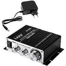 LEPY LP- 2020A HIFI (2 x 20W) Amplificatore Audio Stereo per MP3 MP4 Telefono Computer DAC ecc + Rifornimento di Corrente Alternata Adattatore del Caricatore di DC 13.5V 3A