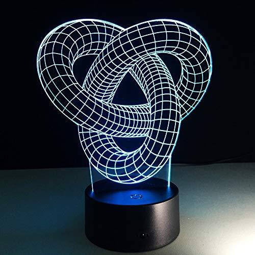 Arte Abstracto Anillo Nudo luz Noche Moderna lámpara