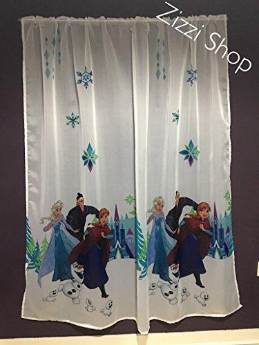 Licenza ufficiale del fumetto tenda in voile con pieghe tape- frozen 1–155cm larghezza x 154cm goccia