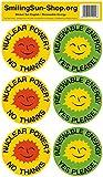 Atomkraft? Nein Danke / Erneuerbare Energie - Aufkleber Set 6 Stück - Englisch