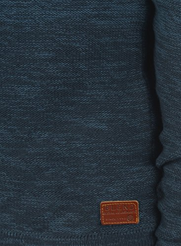 BLEND Bogotá Herren Strickpullover Rundhalskragen Ensign Blue (70260)
