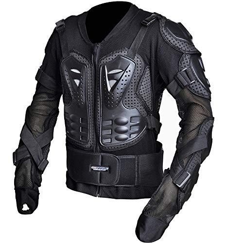 FLH Motorrad-Ganzkörperschutz, professionelle Street Motocross-Schutzjacke, Anti-Drop-Wear, Rückenprotektor, M-4XL, schwarz rot,Black,M
