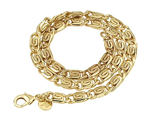old Doublé 6 mm Länge 100 cm, Halskette Goldkette Herren-Kette Anhängerkette Damen Geschenk Schmuck ab Fabrik Italien tendenze SPGYs6-100 ()