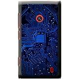 Carte mère Circuit Ordinateur Close Up Coque rigide pour téléphone portable, plastique, Blue Memory Technology Board, Nokia Lumia 520