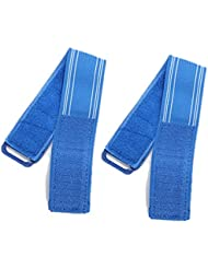 Dcolor 2X Velo Bicyclette Hi Vis Reflechissants Bandes Pantalons pinces Pantalon Sangle Bind Cheville Securite- Bleu