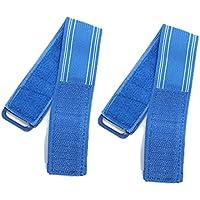 Dcolor 2 X Banda Reflectante Hi Viz Clip de Pantalones Correa de Atar Tobillo para Bicicleta - Azul
