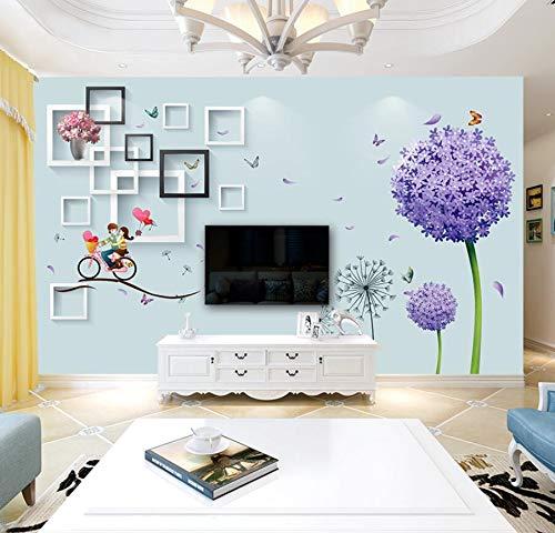 8d wandbild wohnzimmer löwenzahn liebe einfache moderne video wand tapete 3d 120 cm * 100 cm